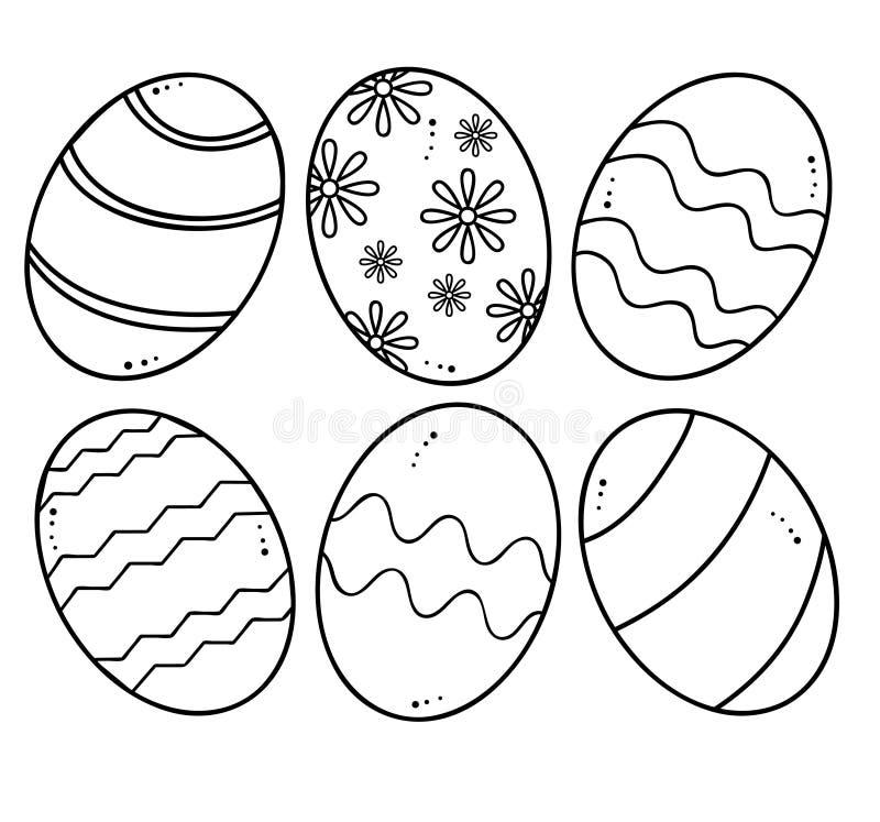 Ovos da páscoa ilustração do vetor