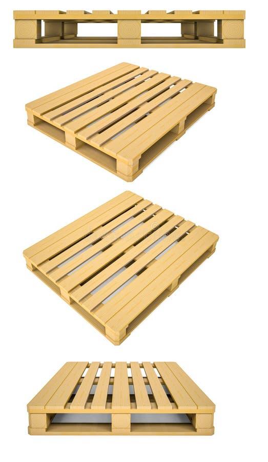 Grupo de pálete de madeira ilustração stock