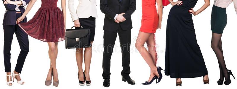 Grupo de pés dos povos imagem de stock royalty free