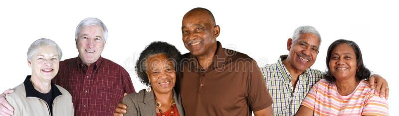 Grupo de pares idosos foto de stock royalty free