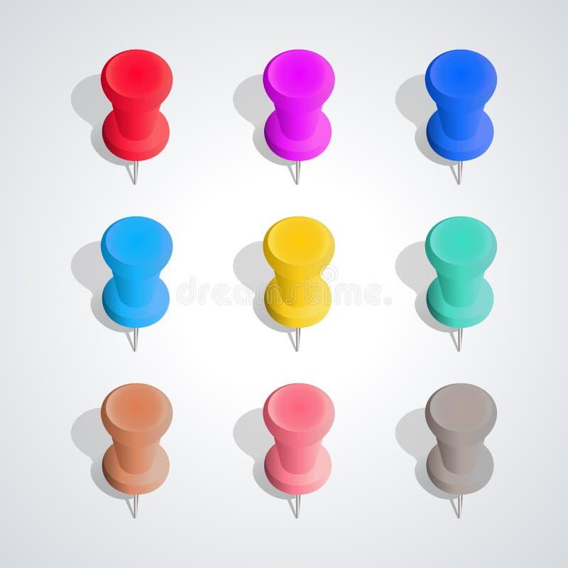 Grupo de percevejos, ilustração do vetor ilustração stock