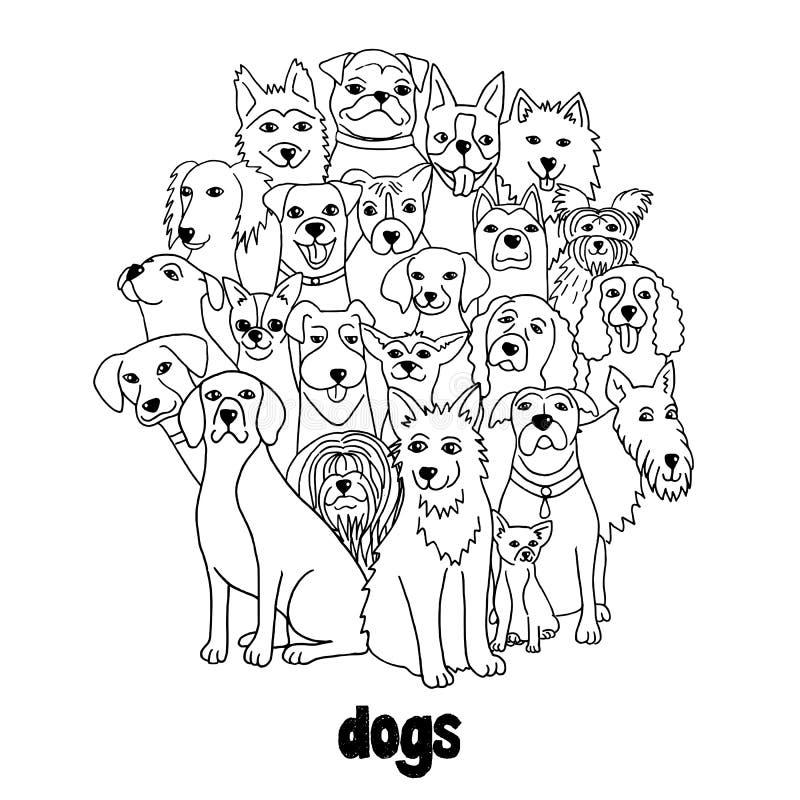 Grupo de perros libre illustration