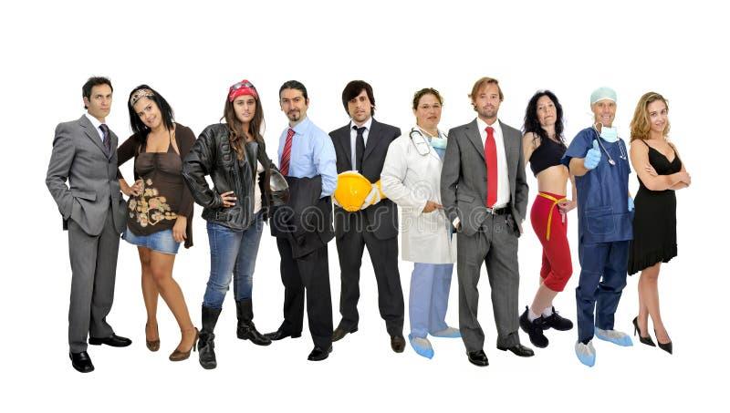 Grupo de personas fotografía de archivo