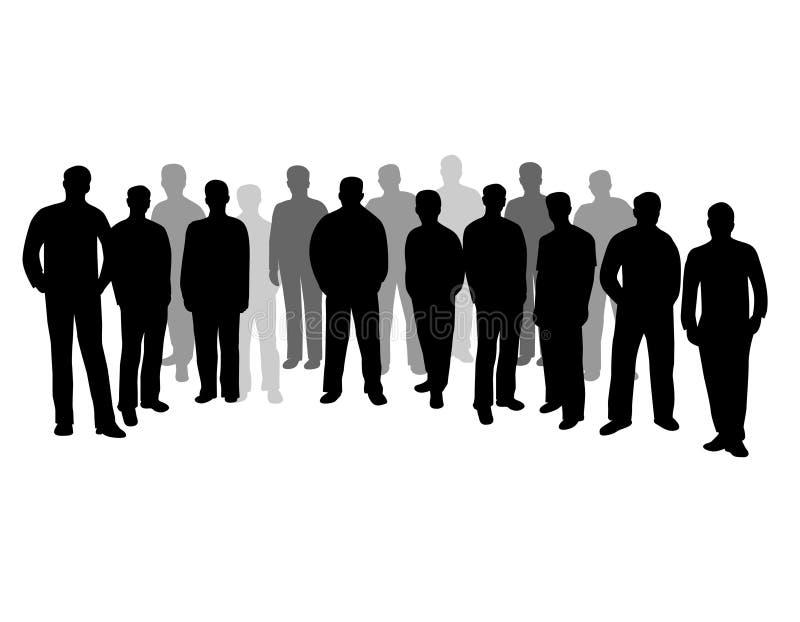 Grupo de personas de la silueta