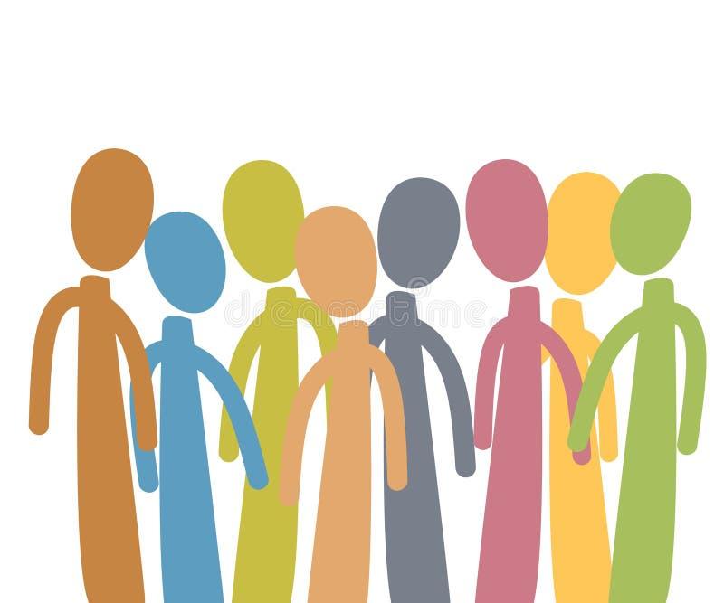 Grupo de personas diverso stock de ilustración