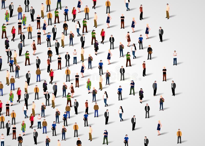 Download Grupo de personas grande ilustración del vector. Ilustración de ciudadano - 100532532