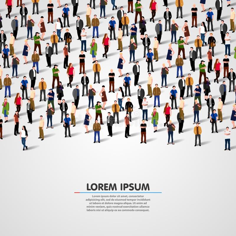Grupo de personas grande libre illustration