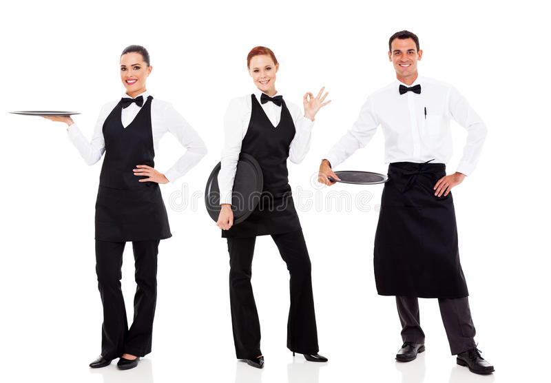 Pessoal do restaurante do grupo imagem de stock royalty free