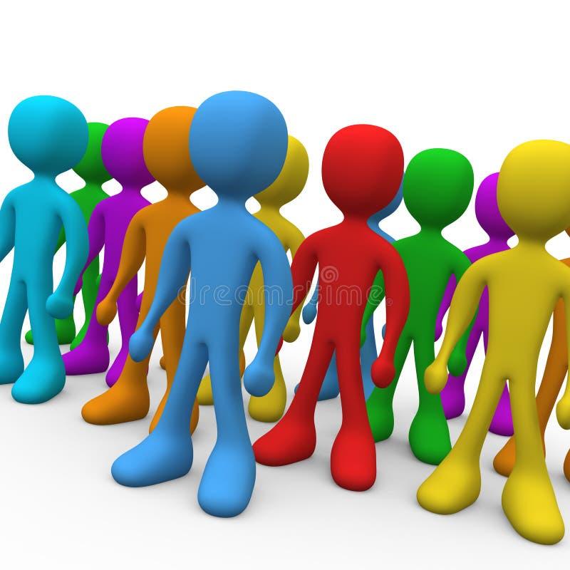 Grupo de pessoas ilustração stock