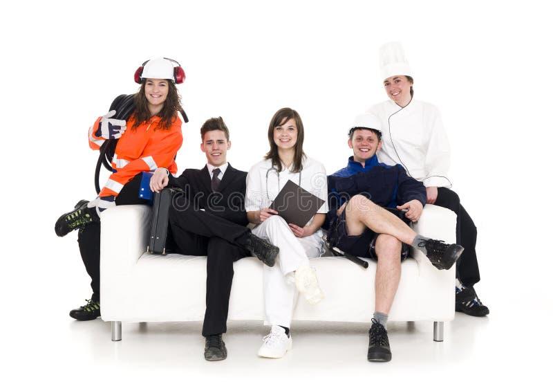 Grupo de pessoas com ocupação diferente fotos de stock royalty free