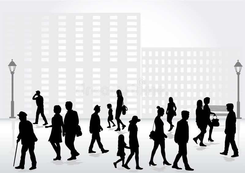 Grupo de pessoas Multidão de povos ilustração do vetor