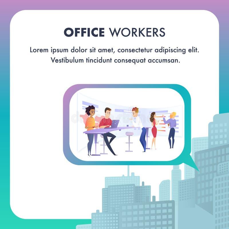 Grupo de pessoas no negócio Team Working Process ilustração do vetor