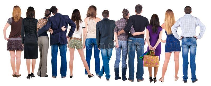 Grupo de pessoas traseiro da vista fotos de stock royalty free