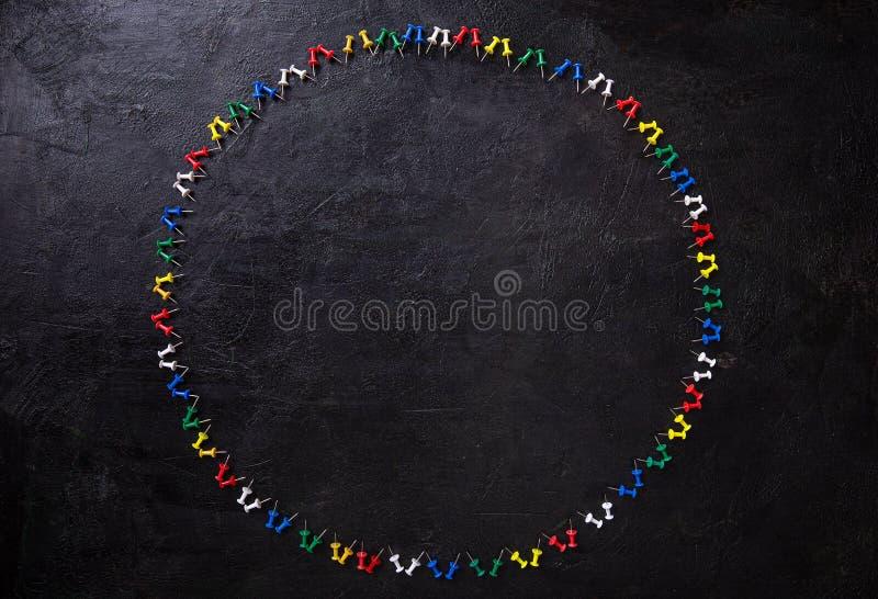 Grupo de pinos coloridos do impulso foto de stock royalty free