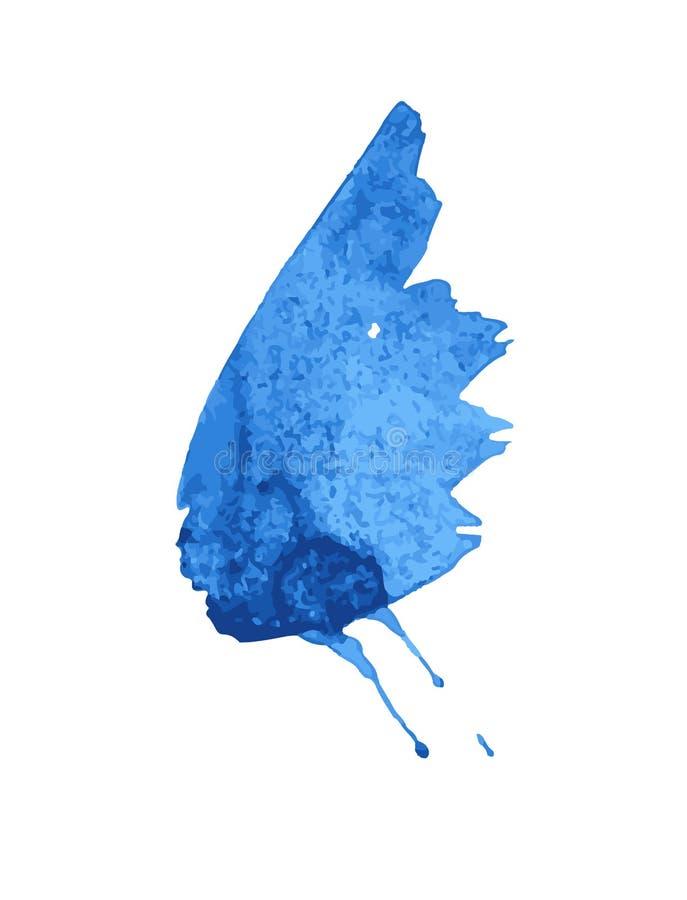 Grupo de pintura preta, tinta, grunge, cursos sujos da escova Asas da borboleta ilustração stock