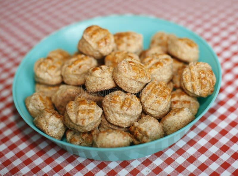 Grupo de pogac caseiro do alimento húngaro tradicional fresco do país fotos de stock royalty free