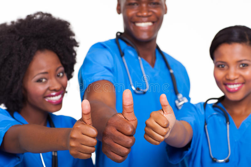 Equipa médica africana foto de stock royalty free