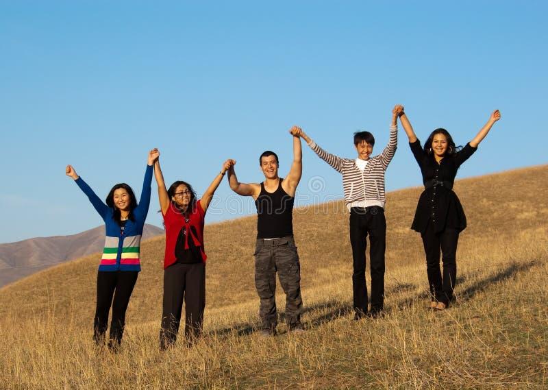 Grupo de povos asiáticos novos fotos de stock