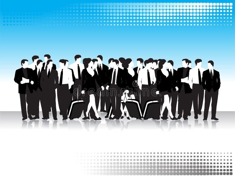 Grupo de povos de negócio ilustração royalty free