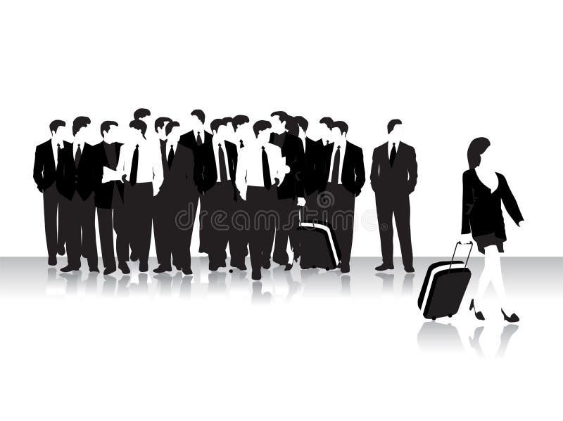 Grupo de povos de negócio, bla ilustração stock