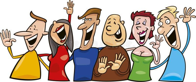 Grupo de povos de riso ilustração stock