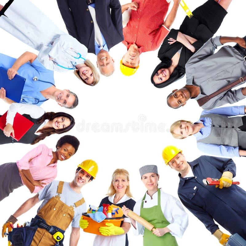 Grupo de povos dos trabalhadores foto de stock royalty free