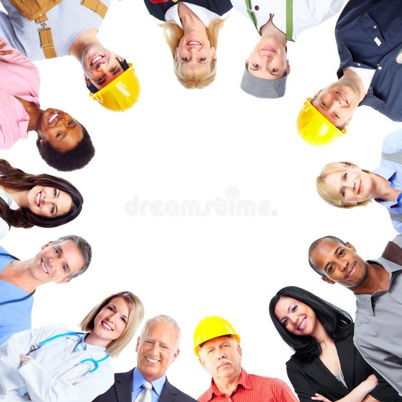 Grupo de povos dos trabalhadores fotos de stock