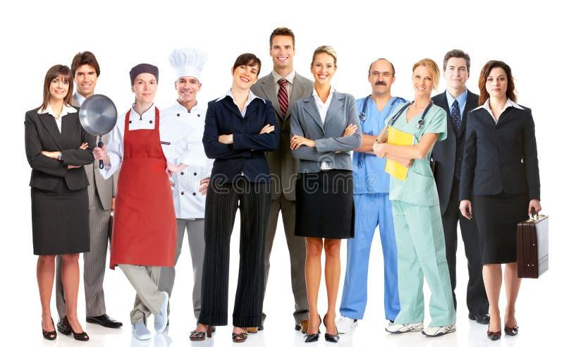Grupo de povos dos trabalhadores imagem de stock royalty free