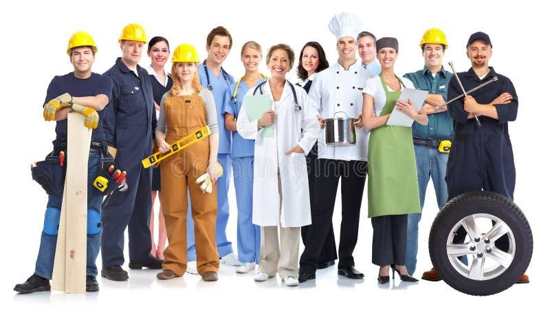 Grupo de povos dos trabalhadores imagens de stock royalty free