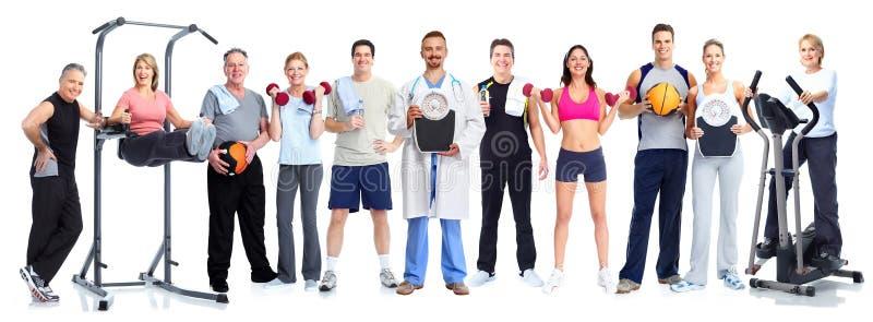 Grupo de povos saudáveis da aptidão imagens de stock