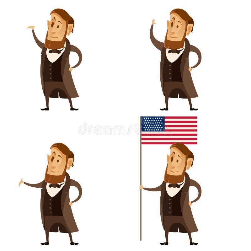 Grupo de presidentes de Lincoln ilustração do vetor