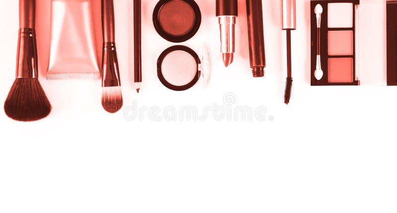 Grupo de produtos de composição no fundo branco fotografia de stock royalty free