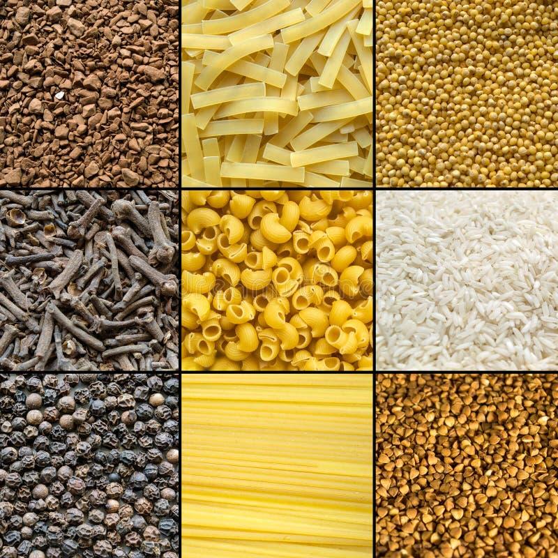 Grupo de produtos diferentes imagens de stock