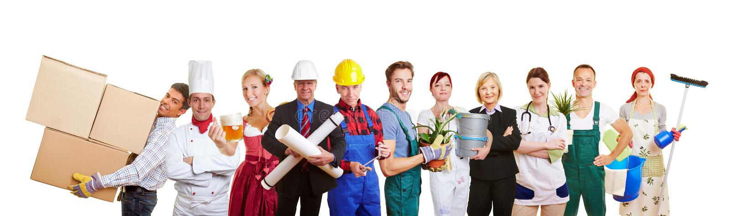 Grupo de profesions diferentes imagem de stock