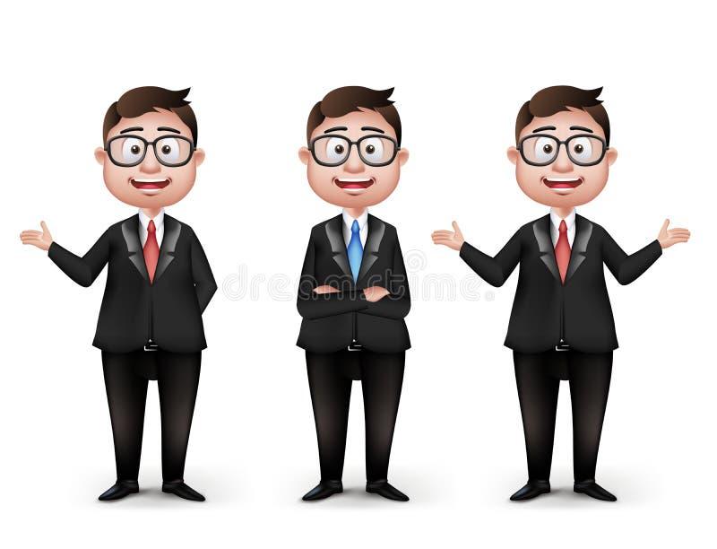 Grupo de profissional diferente realístico de Smart ilustração do vetor