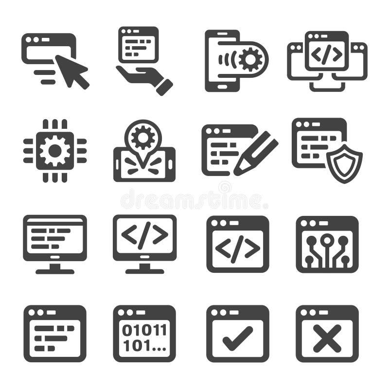 Grupo de programação do ícone ilustração do vetor