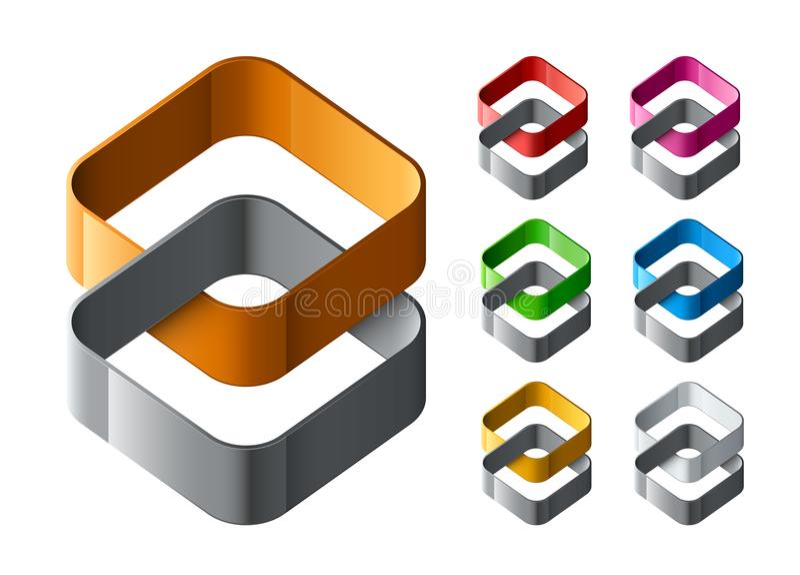 Grupo de projeto abstrato dos logotipos ilustração stock