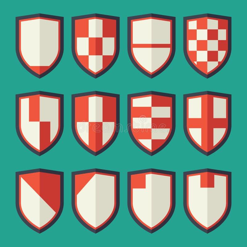 Grupo de protetores vermelhos ilustração do vetor