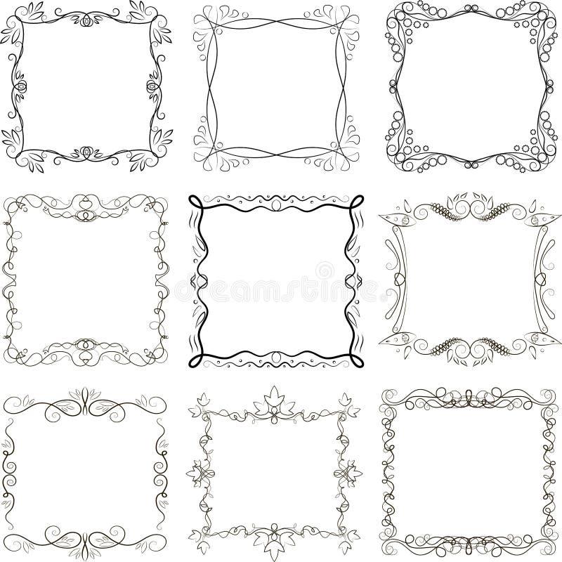 Grupo de quadros imagens de stock royalty free