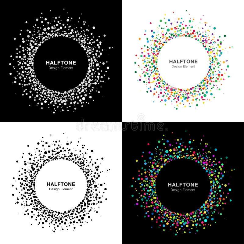 Grupo de quadros de intervalo mínimo abstratos do círculo ilustração do vetor