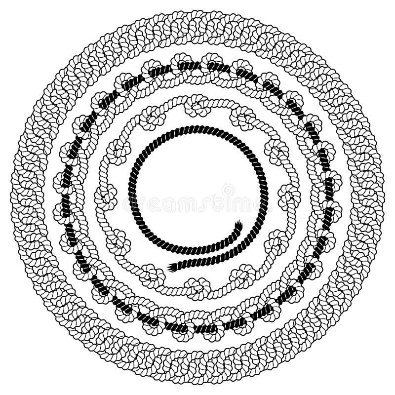 Grupo de quadros do vetor da corda ilustração royalty free