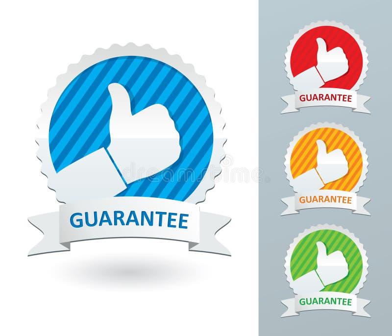 Grupo de etiquetas da garantia ilustração stock