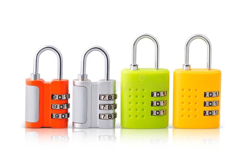 Grupo de quatro fechamentos do teste padrão com opções brilhantes das cores foto de stock royalty free