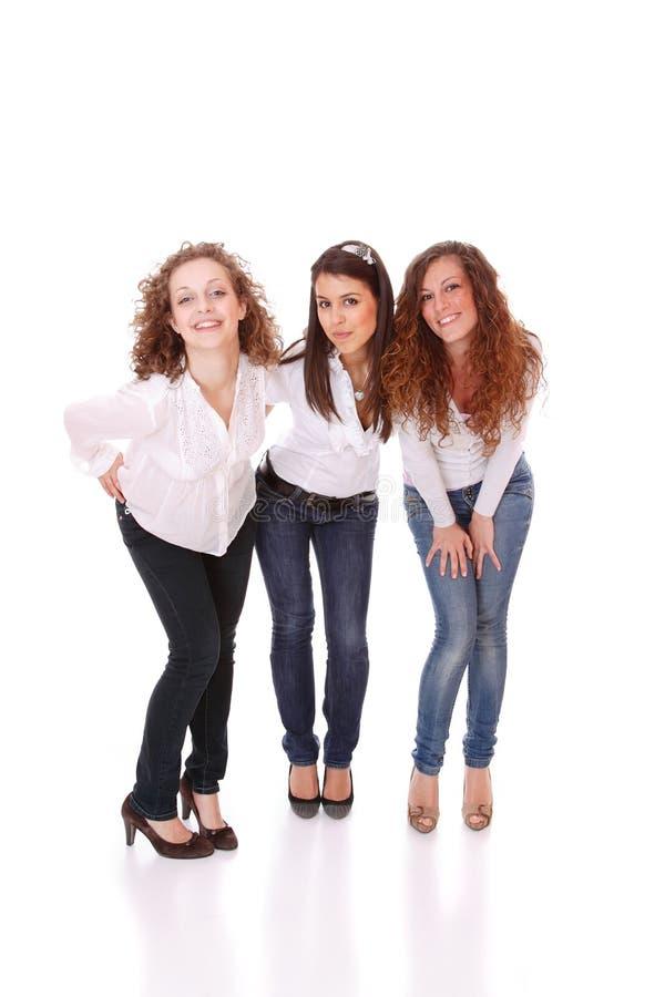 Grupo de quatro 'sexy', mulheres felizes. fotos de stock royalty free
