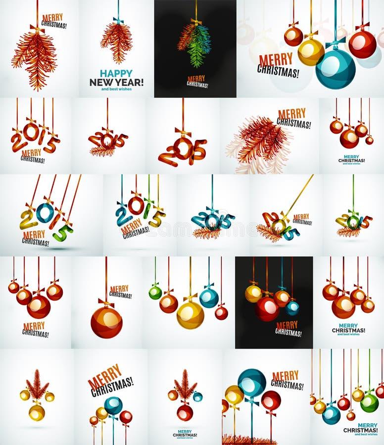 Grupo de quinquilharias do Natal, conceitos do ano novo ilustração royalty free