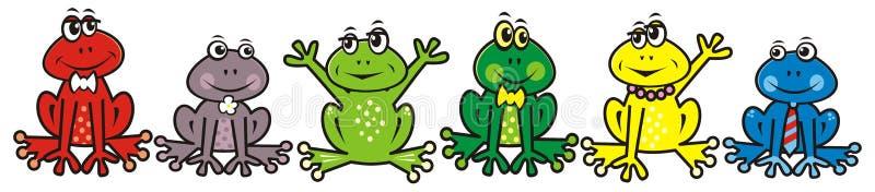 Grupo de ranas ilustración del vector