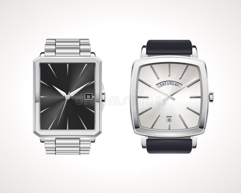 Grupo de relógios de homens clássicos e modernos ilustração stock