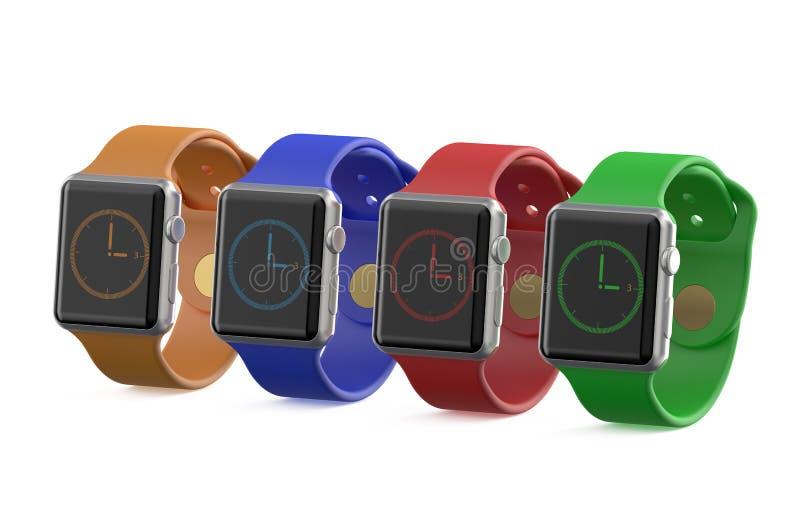 Grupo de reloj elegante coloreado ilustración del vector