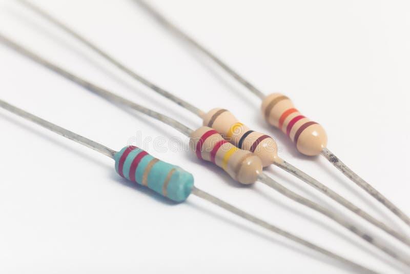 Grupo de resistores eletrônicos fotografia de stock royalty free