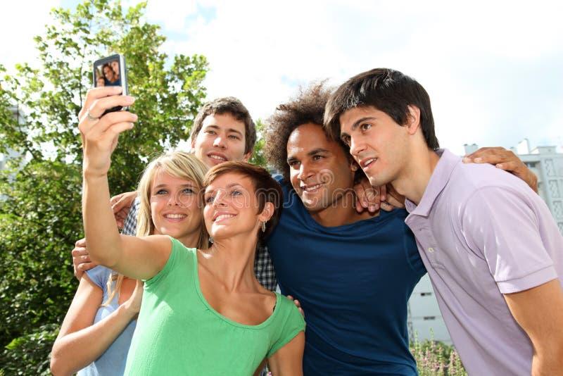 Grupo de retrato de los amigos foto de archivo